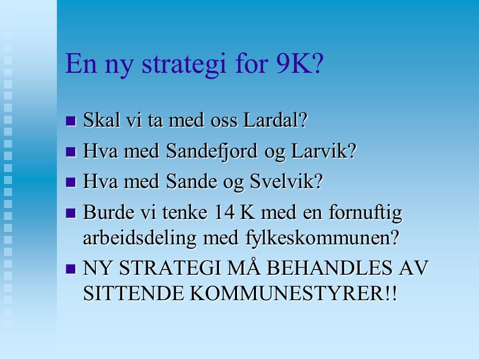 En ny strategi for 9K. n Skal vi ta med oss Lardal.