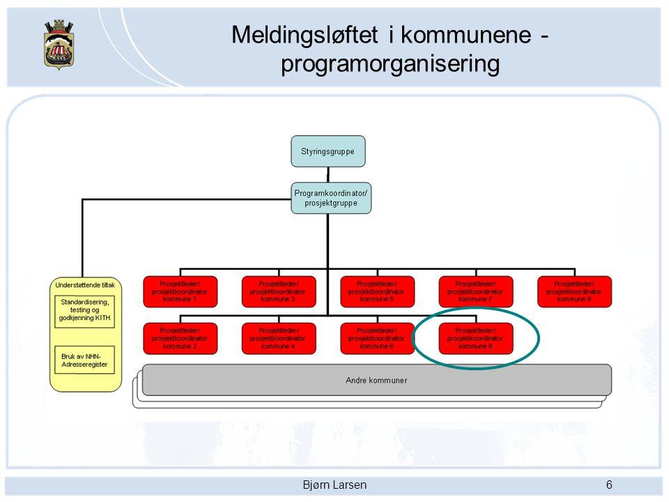 Bjørn Larsen7 2 faser i nasjonalt meldingsløft I fase 1 av meldingsløftet har samhandlingskjeden og elektroniske meldinger mellom helseforetak og legekontor vært prioritert.