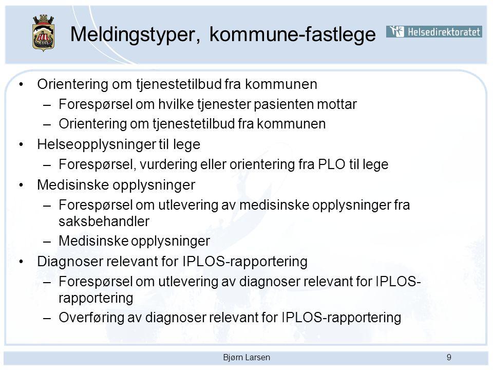 Bjørn Larsen10 Meldingstyper fortsetter….