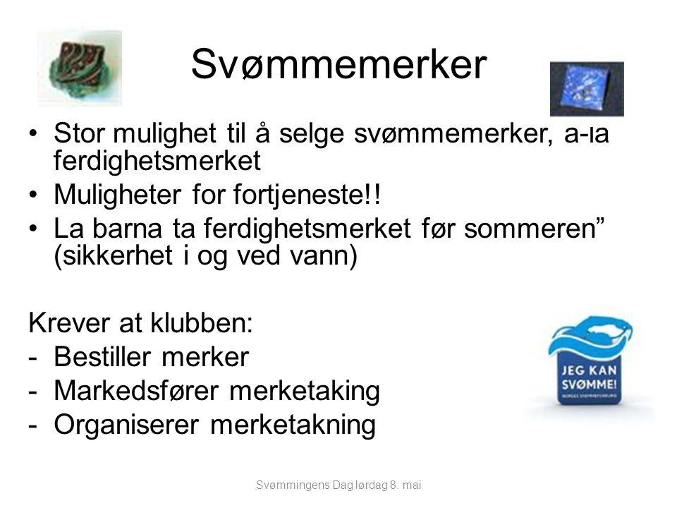 """Svømmemerker Stor mulighet til å selge svømmemerker, á-lá ferdighetsmerket Muligheter for fortjeneste!! La barna ta ferdighetsmerket før sommeren"""" (si"""