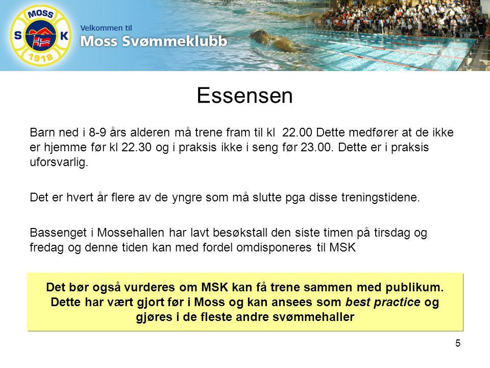 Essensen Barn ned i 8-9 års alderen må trene fram til kl 22.00 Dette medfører at de ikke er hjemme før kl 22.30 og i praksis ikke i seng før 23.00.