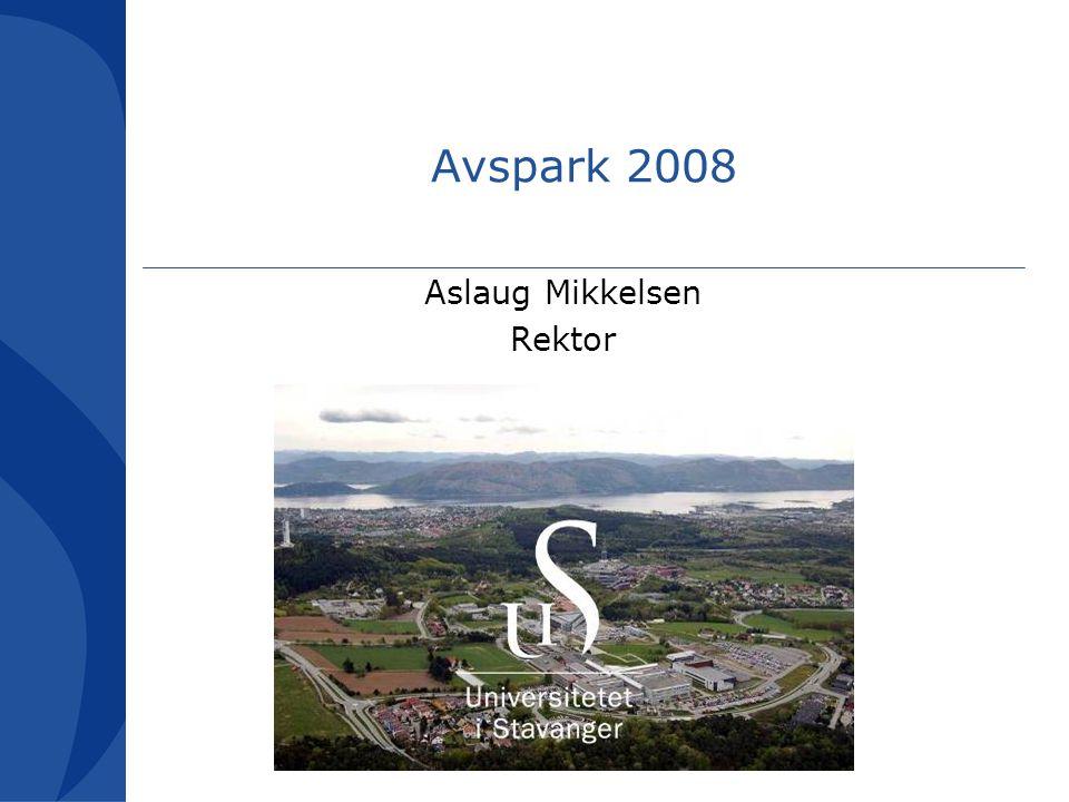 Avspark 2008 Aslaug Mikkelsen Rektor