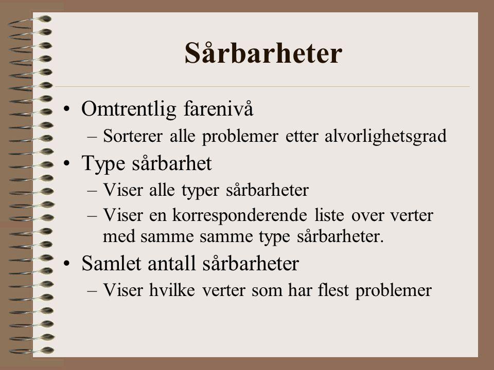Informasjonskategorier Sårbarheter. –Hva og hvor.