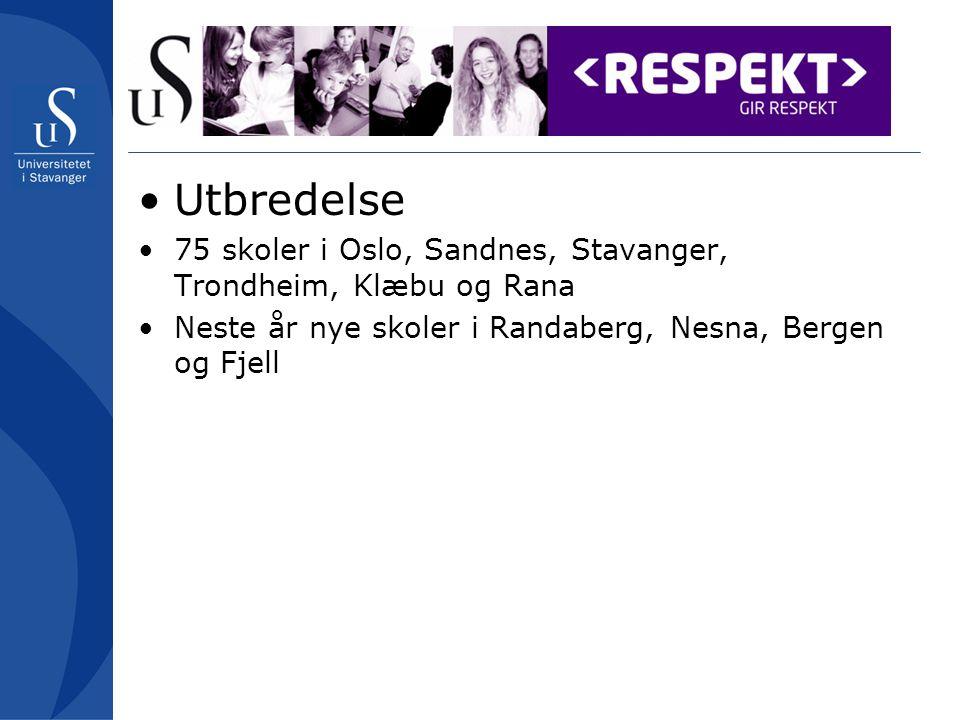 Utbredelse 75 skoler i Oslo, Sandnes, Stavanger, Trondheim, Klæbu og Rana Neste år nye skoler i Randaberg, Nesna, Bergen og Fjell