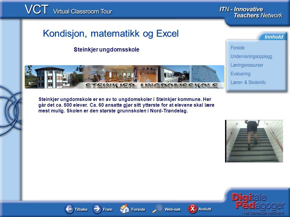 Kondisjon, matematikk og Excel Steinkjer ungdomskole er en av to ungdomskoler i Steinkjer kommune.