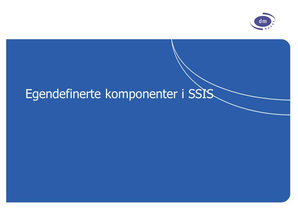 www.dmhuset.no Innhold Help | About … Kort introduksjon til SSIS Kort om valgmulighetene ActiveX Script Task Custom tasks, adapters and transforms Best Practices Veien videre