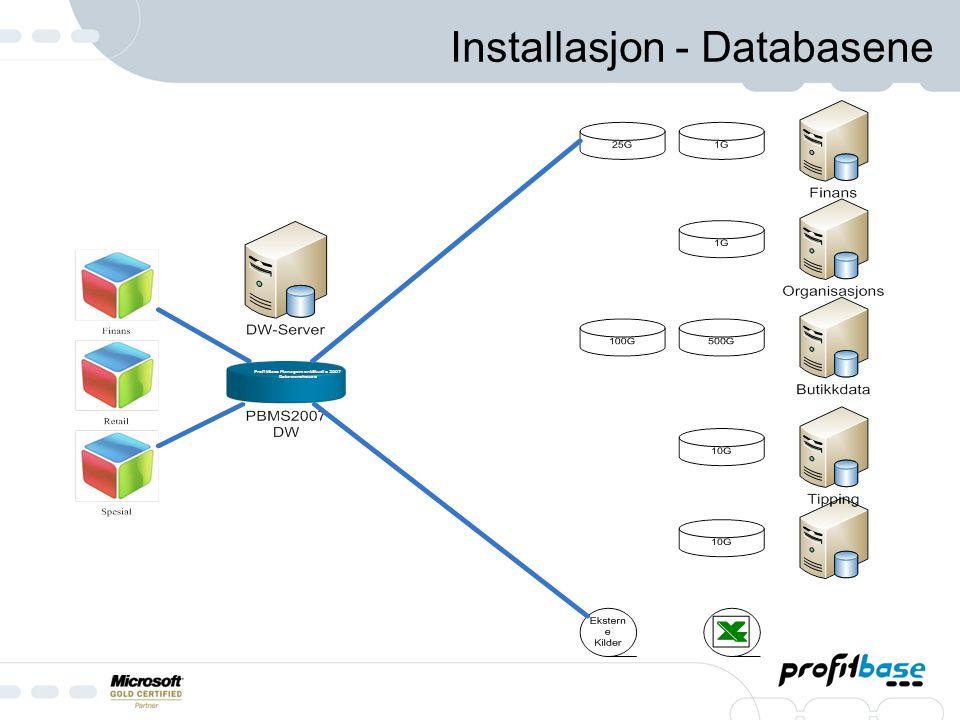 Installasjon - Databasene