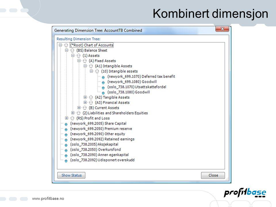 www.profitbase.no Kombinert dimensjon