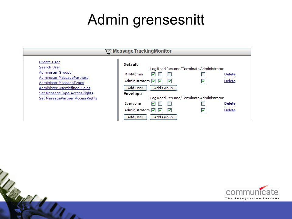 Admin grensesnitt