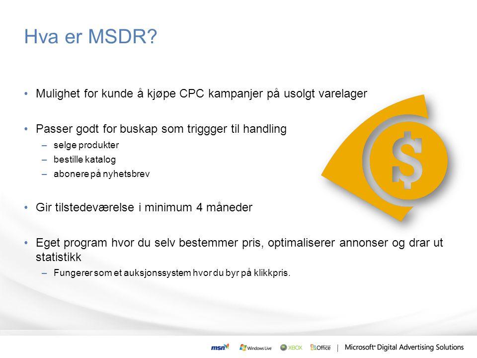 Hva er MSDR.