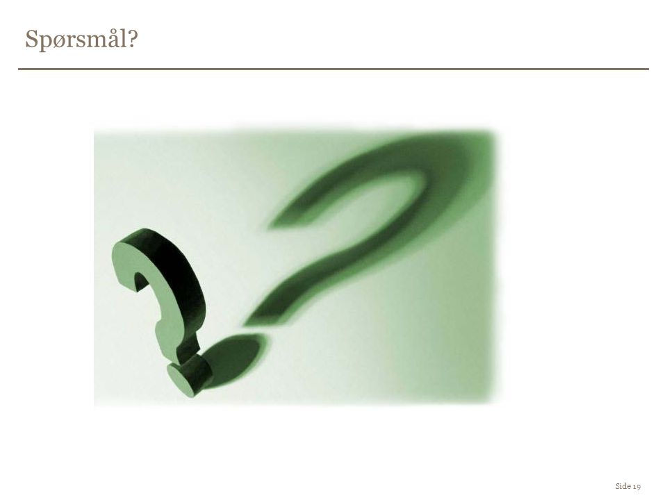 Spørsmål Side 19