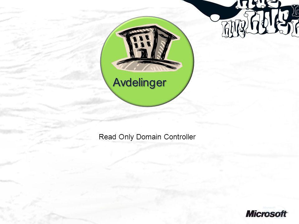Avdelinger Read Only Domain Controller