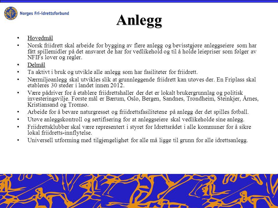 Kompetanse Hovedmål Norsk Friidrett skal være kompetent.
