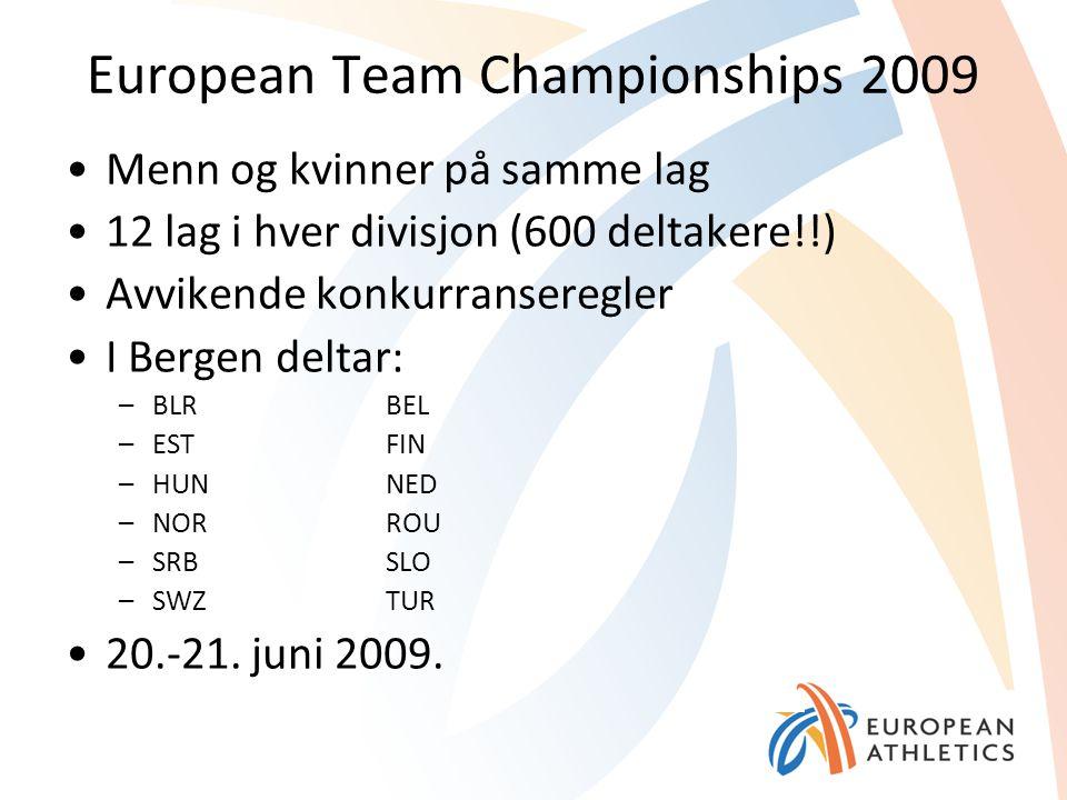 European Team Championships 2009 Menn og kvinner på samme lag 12 lag i hver divisjon (600 deltakere!!) Avvikende konkurranseregler I Bergen deltar: –B