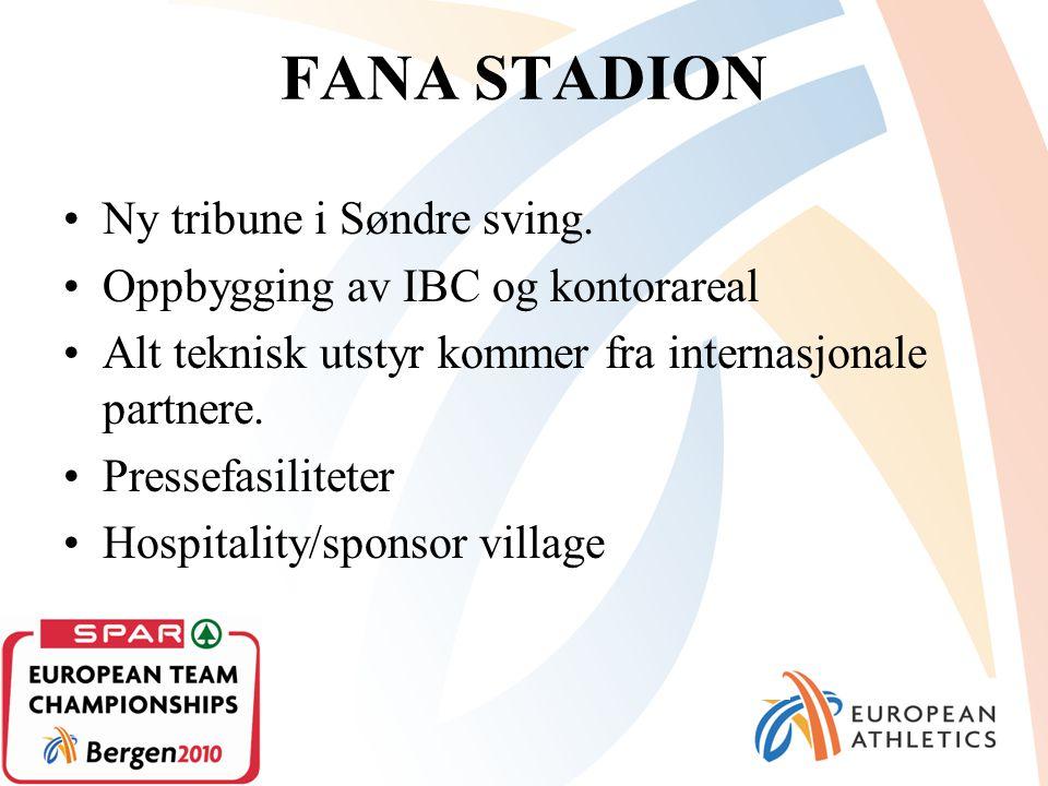 FANA STADION Ny tribune i Søndre sving.