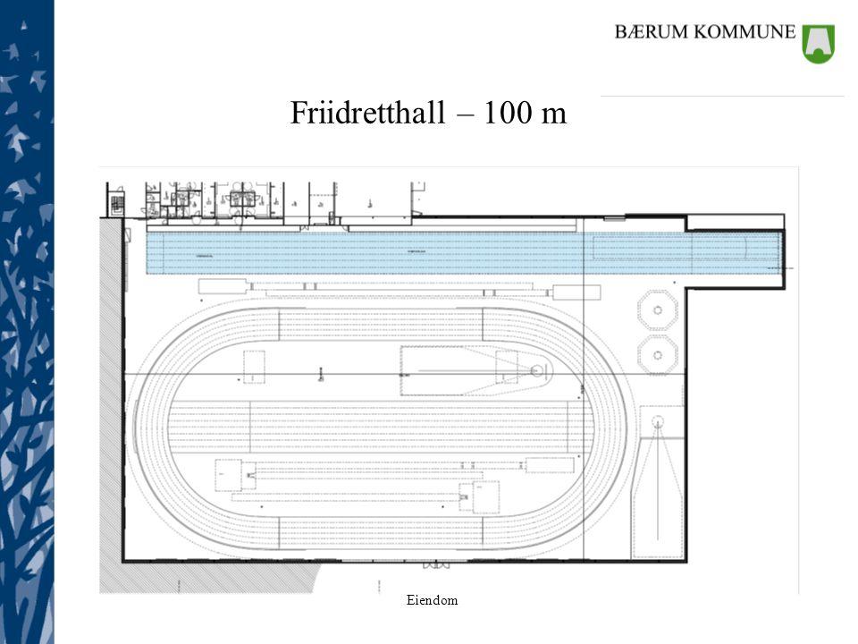 Eiendom Friidretthall – 100 m