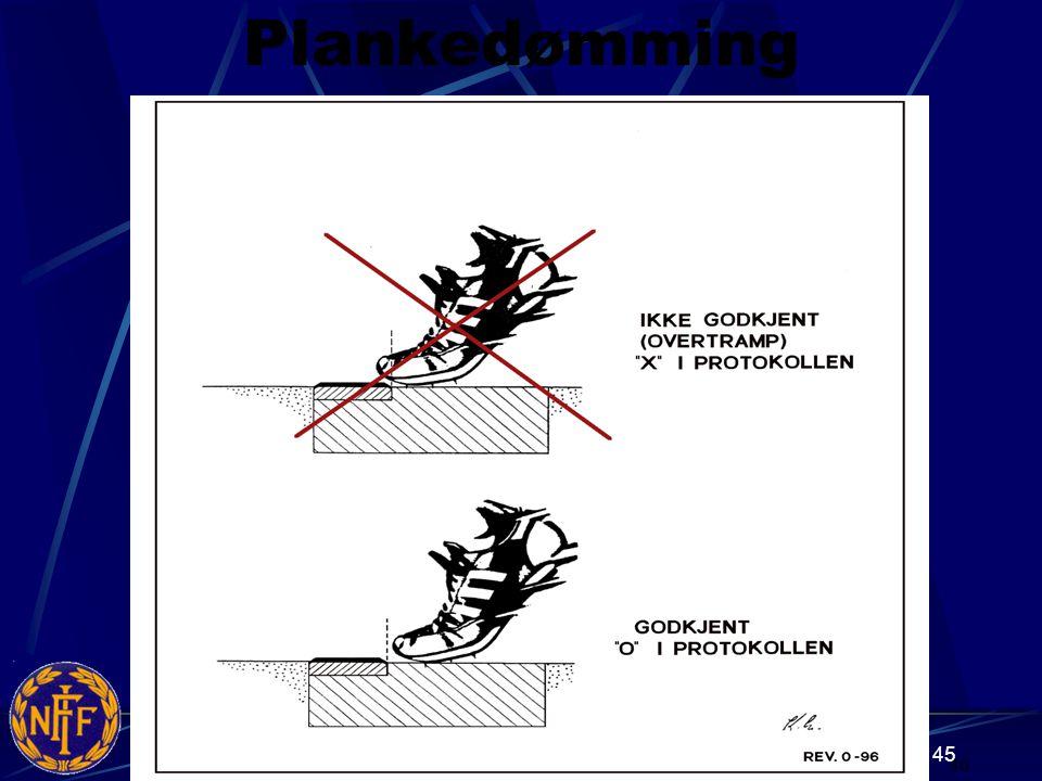 45 Plankedømming 46