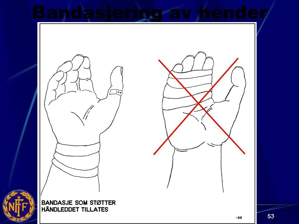 Bandasjering av hender 54