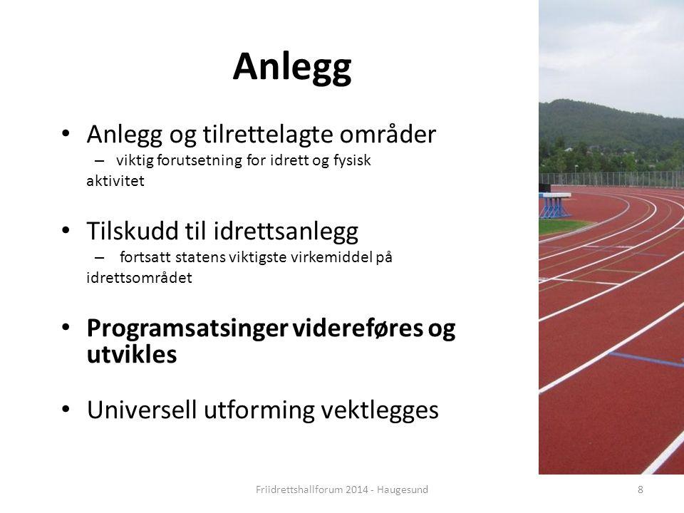 Norsk mal: Tekst med kulepunkter - 1 vertikalt bilde Tips bilde: For best oppløsning anbefales Jpg og png-format Anlegg Anlegg og tilrettelagte område