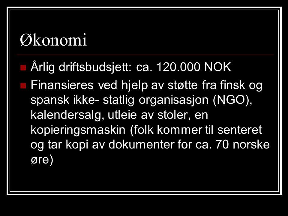 Økonomi Årlig driftsbudsjett: ca.