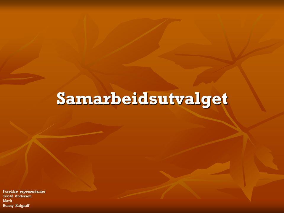 Samarbeidsutvalget Foreldre representanter Torild Andersen Marit Ronny Kalgraff