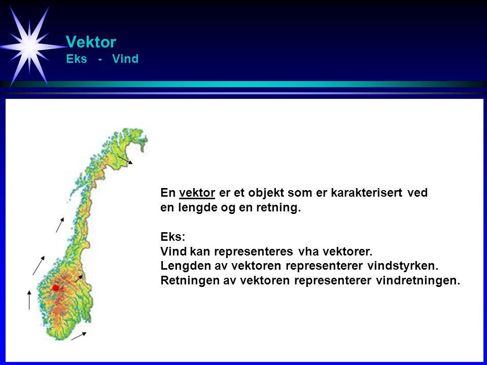 Vektor Eks - Vind En vektor er et objekt som er karakterisert ved en lengde og en retning.