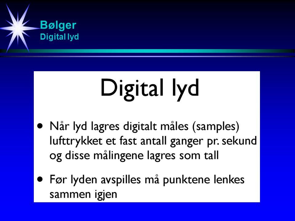 Bølger Digital lyd