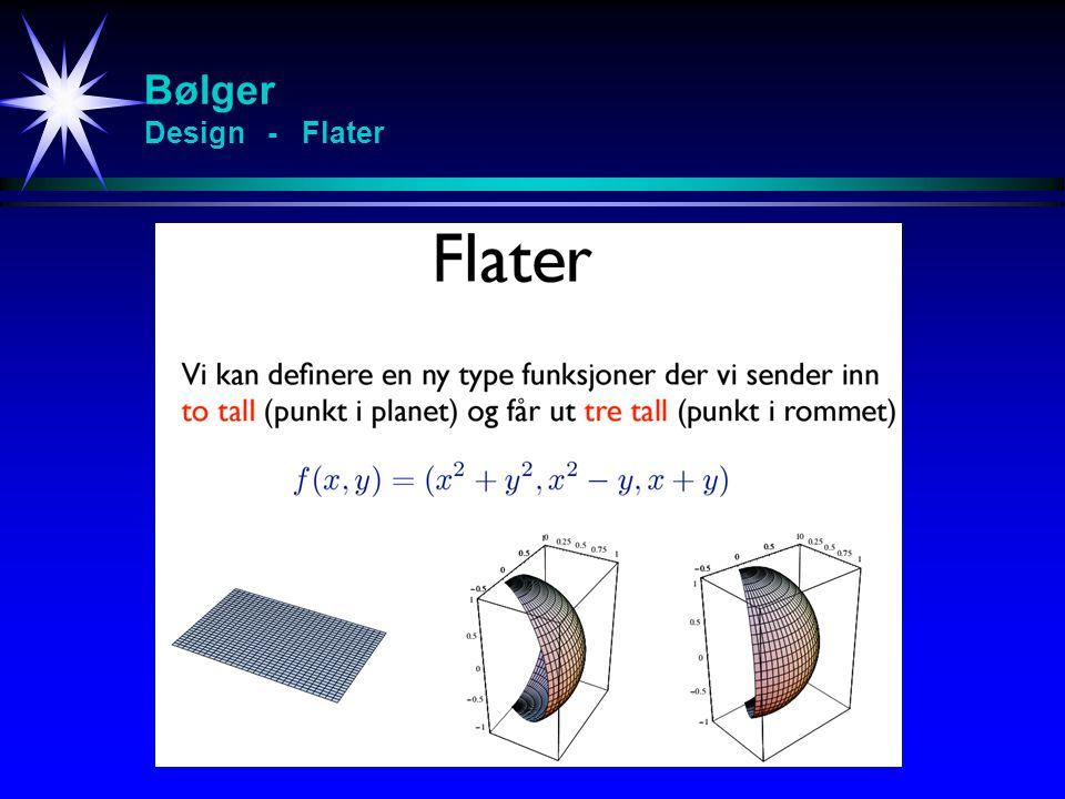 Bølger Design - Flater