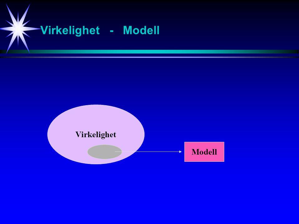 Virkelighet - Modell Virkelighet Modell