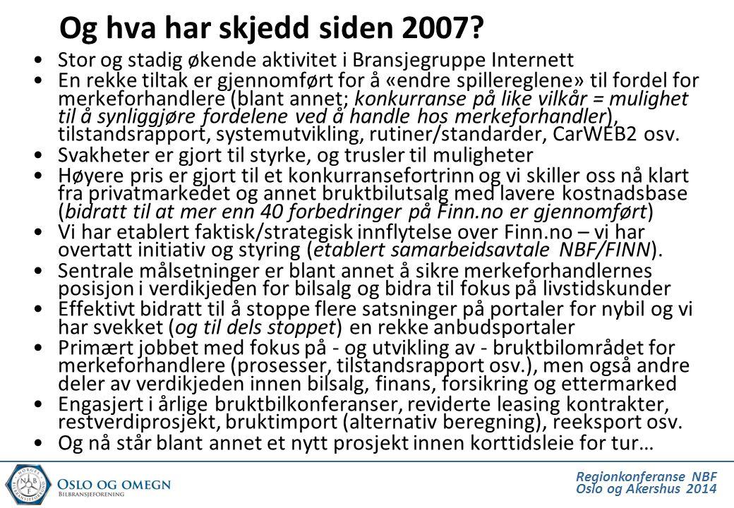 Regionkonferanse NBF Oslo og Akershus 2014 Og hva har skjedd siden 2007.