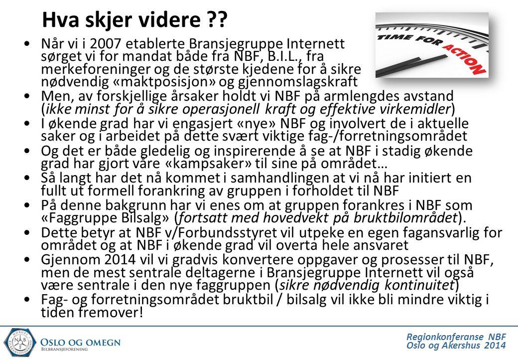 Regionkonferanse NBF Oslo og Akershus 2014 Hva skjer videre .