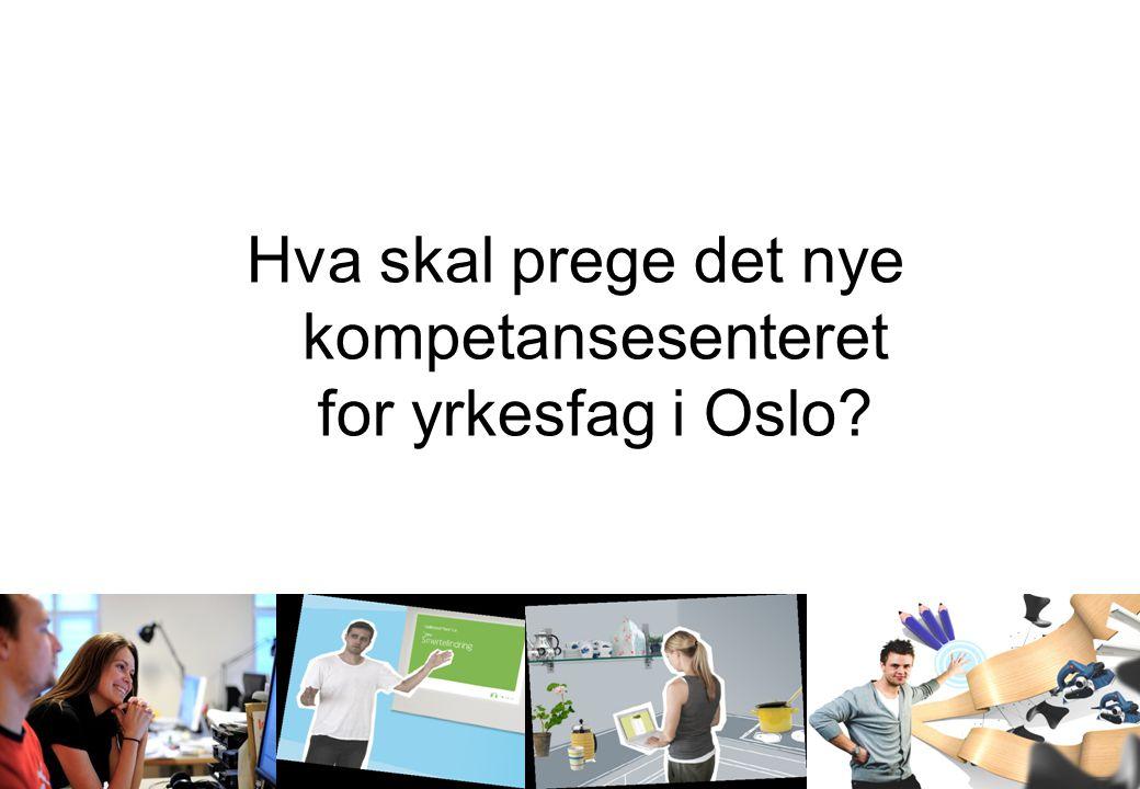 Oslo og Omegn Bilbransjeforening Medlemsmøte 20.oktober 2009 Hva skal prege det nye kompetansesenteret for yrkesfag i Oslo?