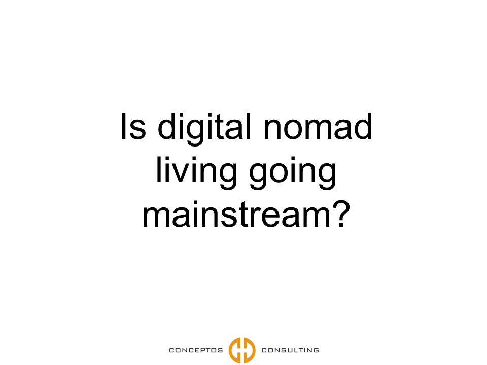 Is digital nomad living going mainstream?