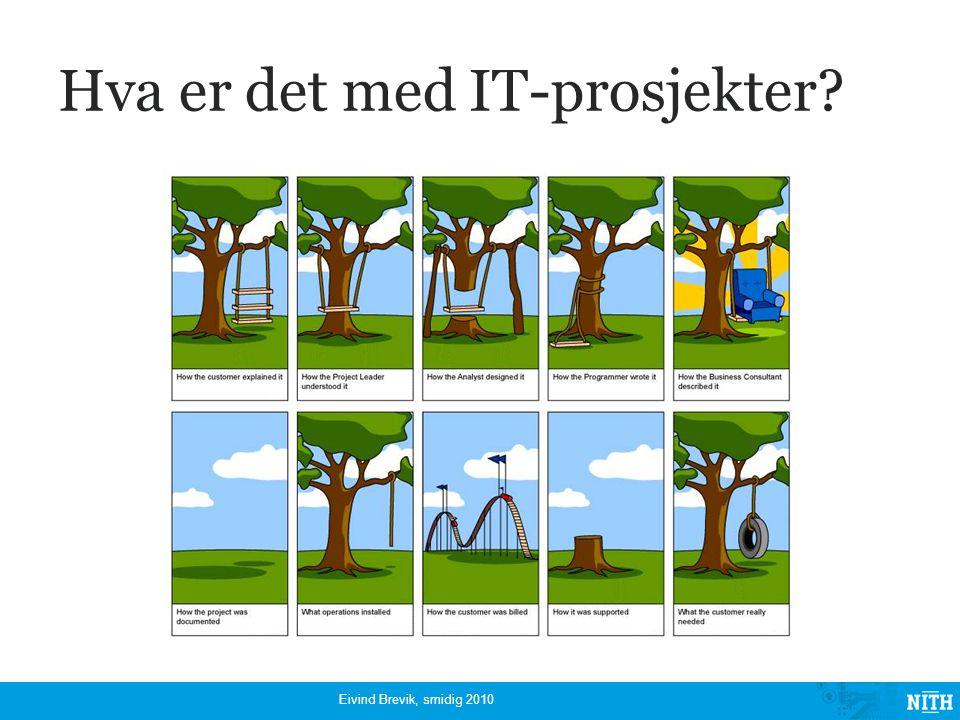 Hva er det med IT-prosjekter? Eivind Brevik, smidig 2010