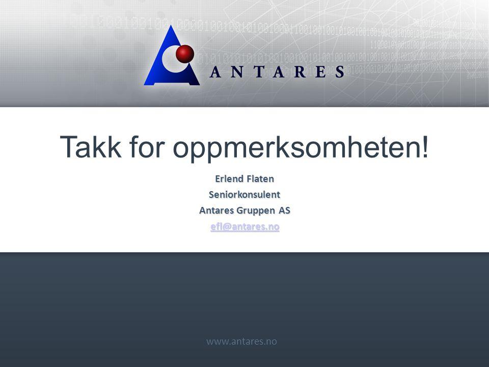 www.antares.no Takk for oppmerksomheten.