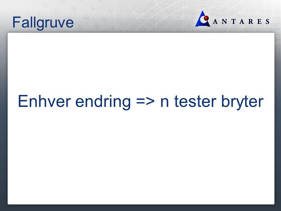 Fallgruve Enhver endring => n tester bryter