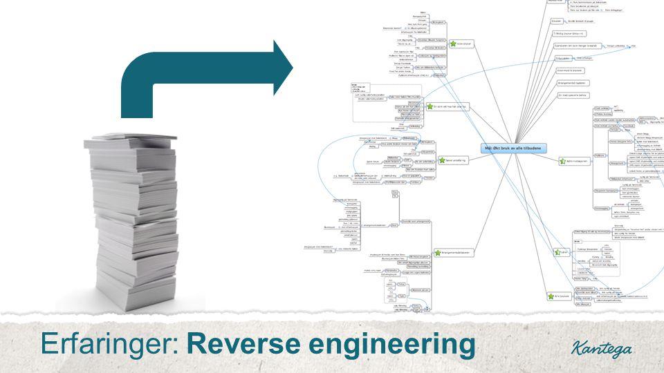 Erfaringer: Reverse engineering