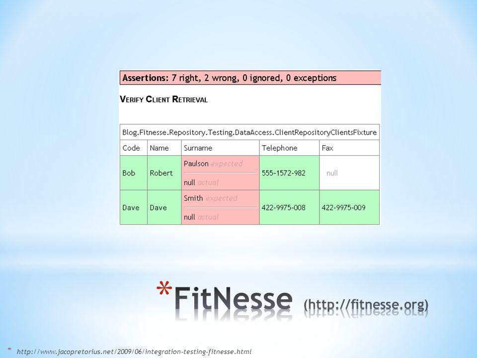 * http://www.jacopretorius.net/2009/06/integration-testing-fitnesse.html