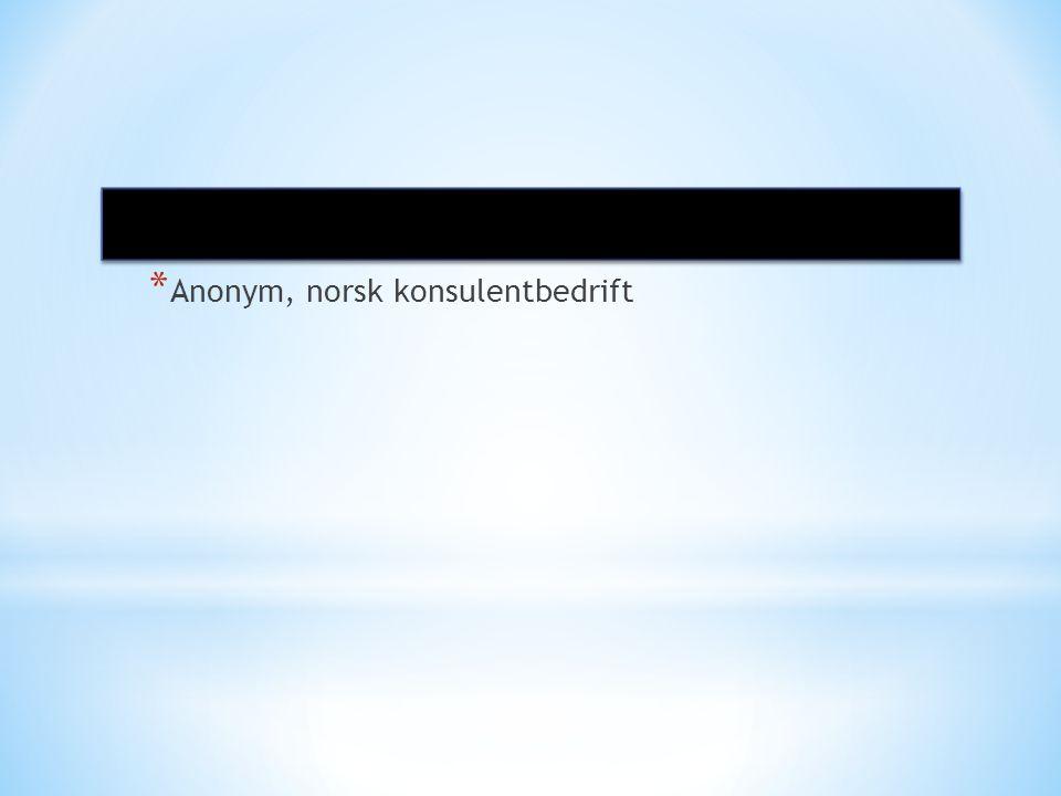 * Anonym, norsk konsulentbedrift