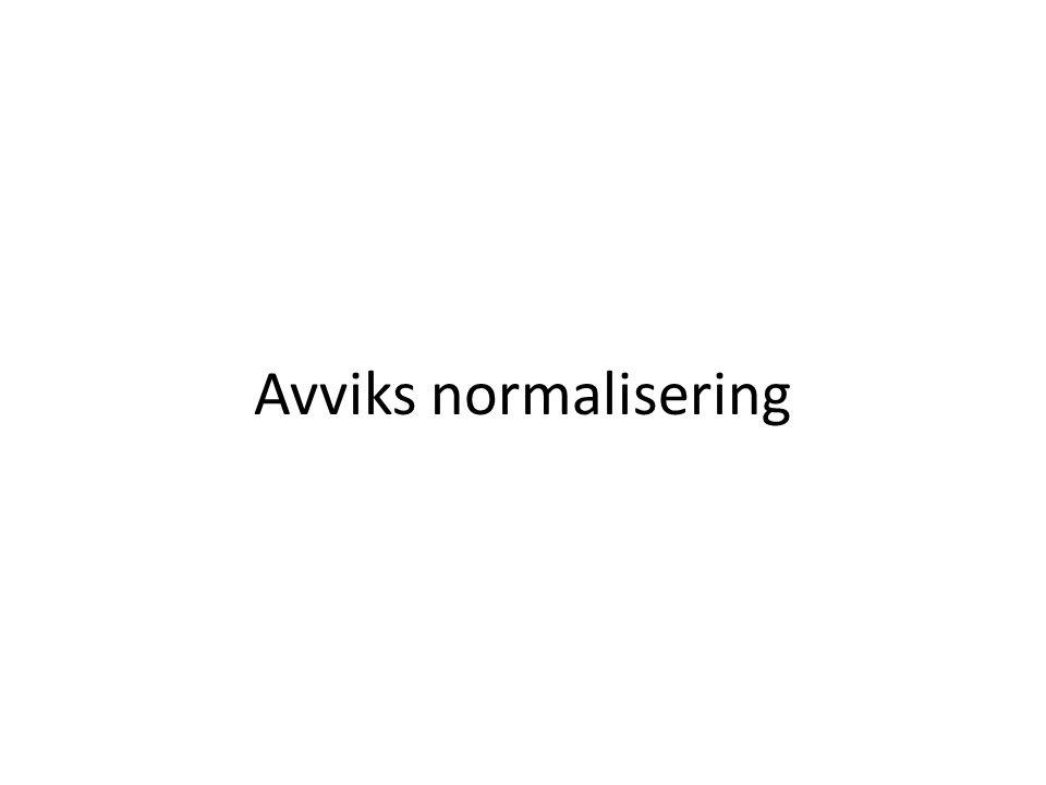 Avviks normalisering