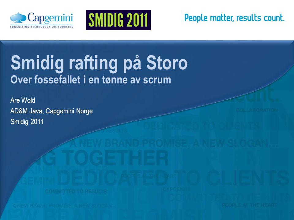 Are Wold AD&M Java, Capgemini Norge Smidig 2011 Smidig rafting på Storo Over fossefallet i en tønne av scrum