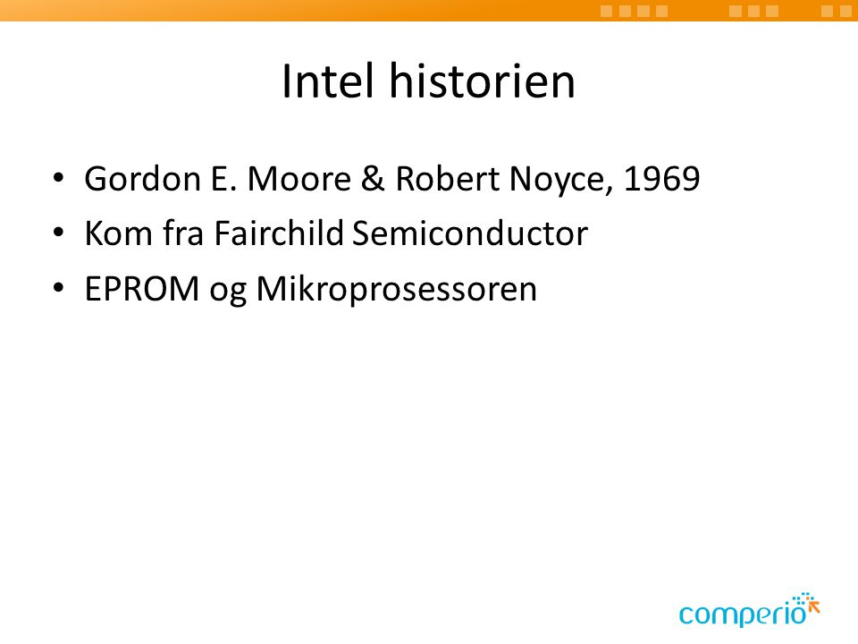 Intel historien Gordon E.