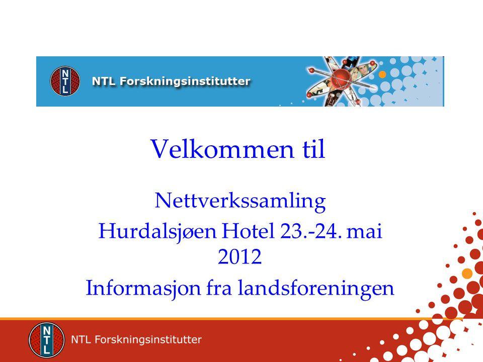 Velkommen til Nettverkssamling Hurdalsjøen Hotel 23.-24. mai 2012 Informasjon fra landsforeningen