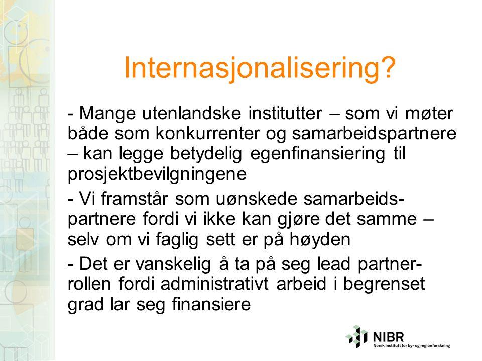 Internasjonalisering.