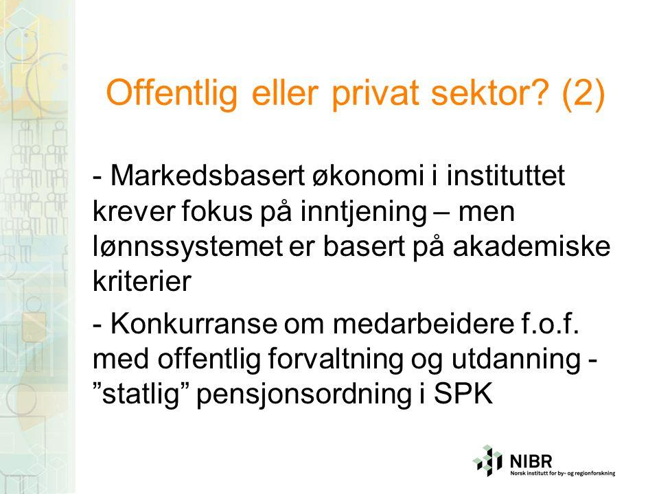 Offentlig eller privat sektor.