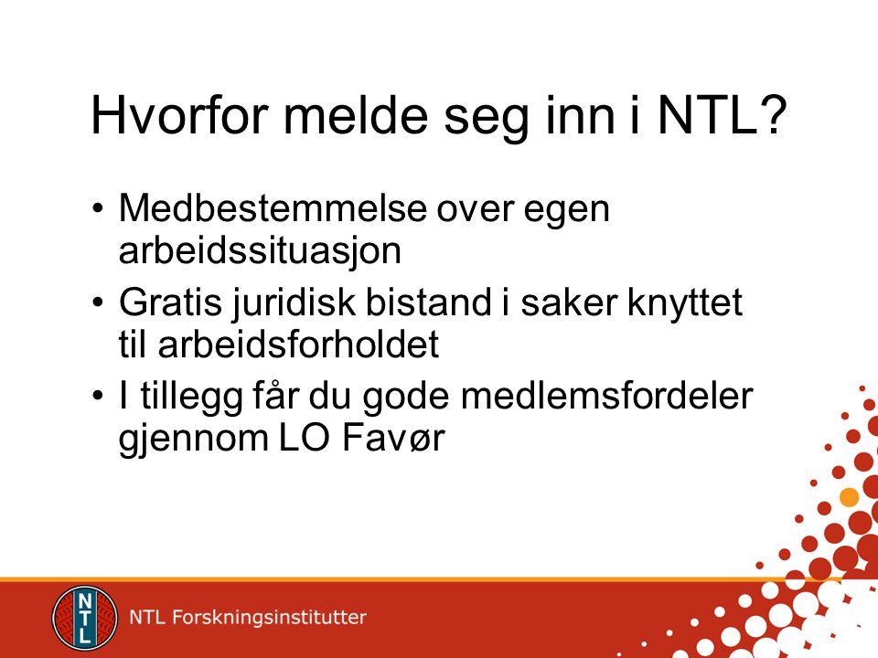 Hvorfor melde seg inn i NTL.