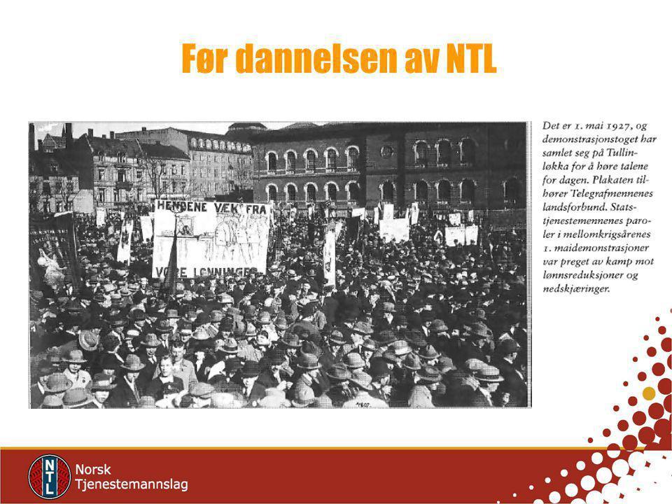 Før dannelsen av NTL