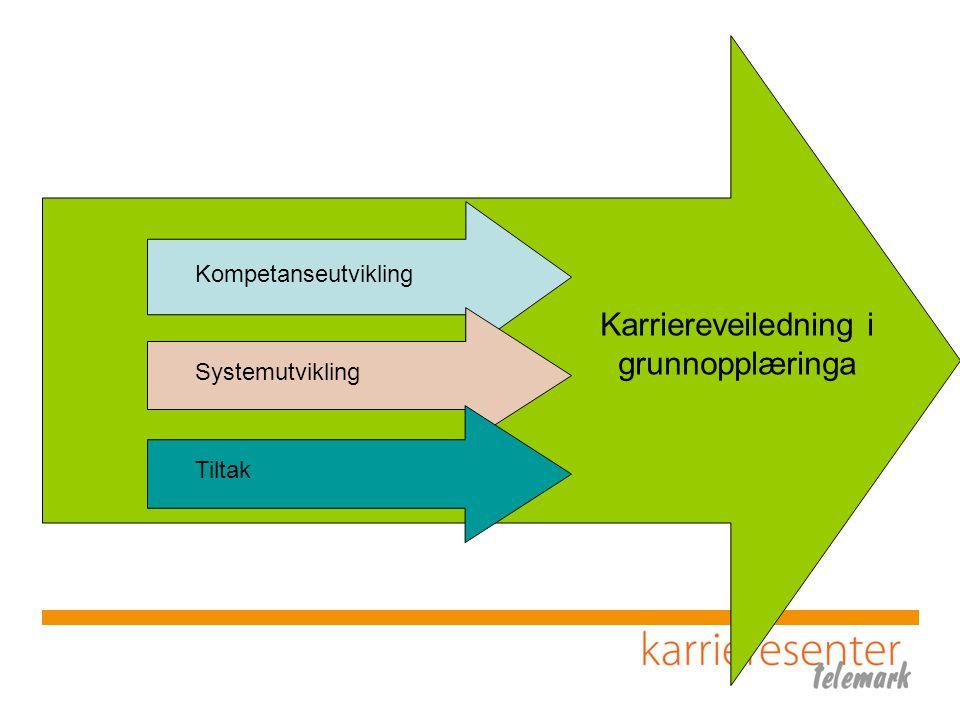 Kompetanseutvikling Systemutvikling Tiltak Karriereveiledning i grunnopplæringa