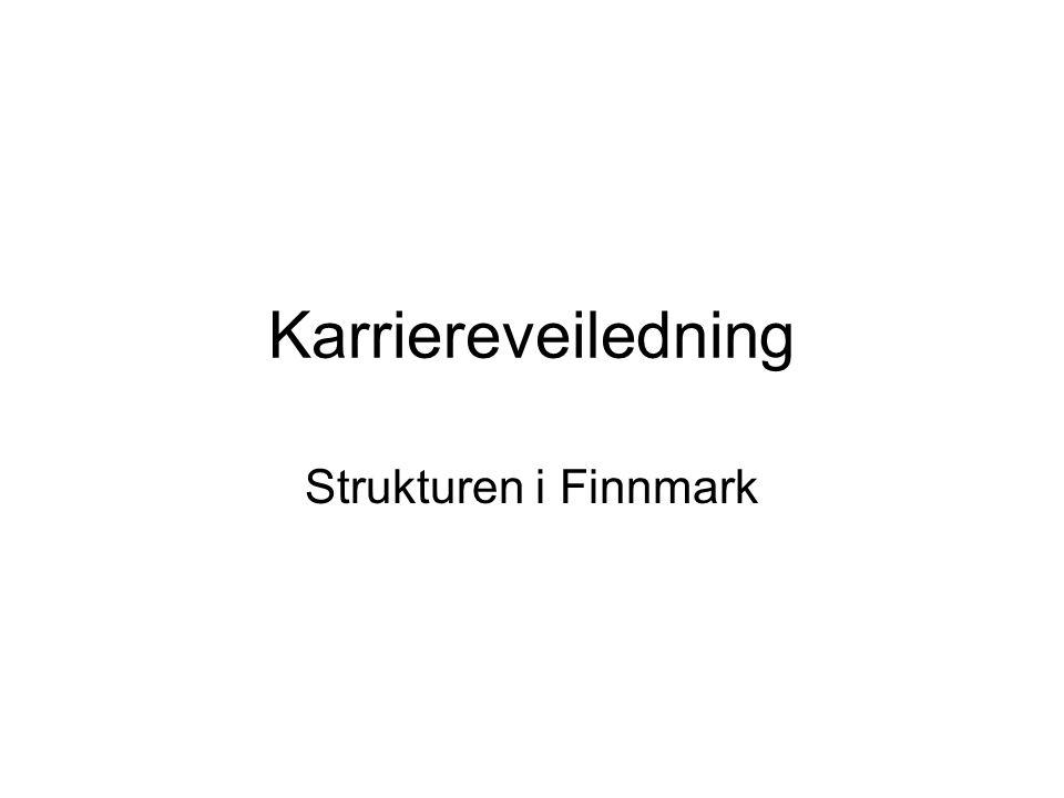 Karriereveiledning Strukturen i Finnmark