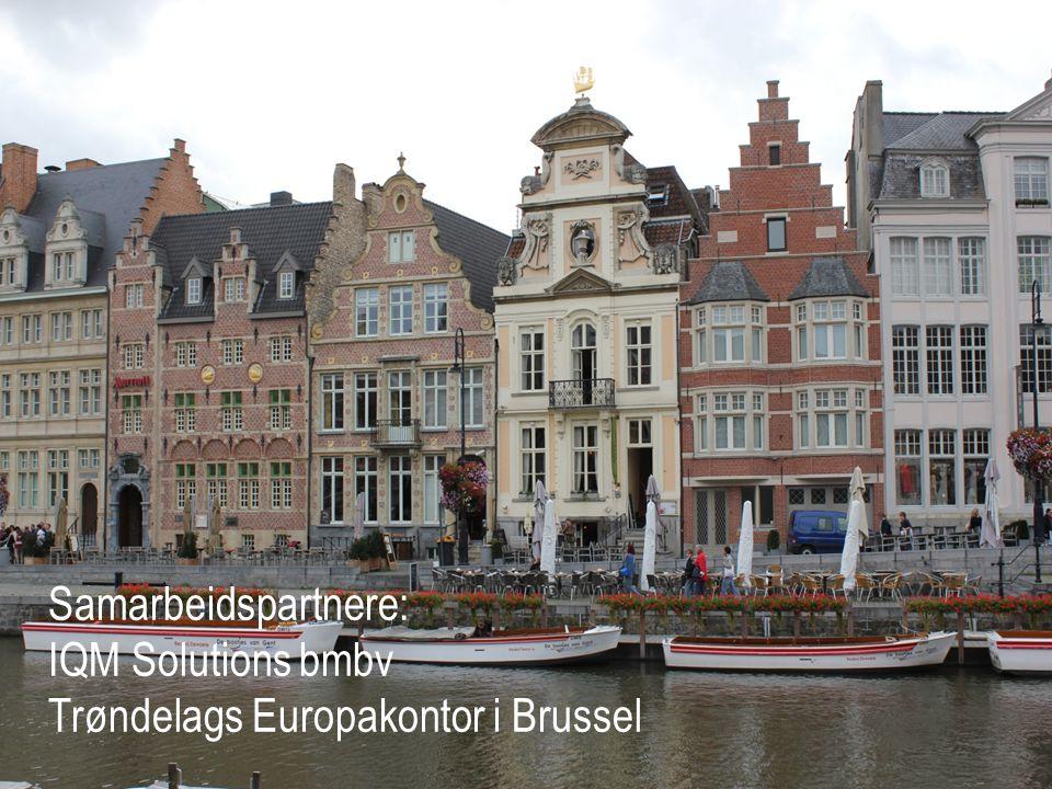 Samarbeidspartnere: IQM Solutions bmbv Trøndelags Europakontor i Brussel
